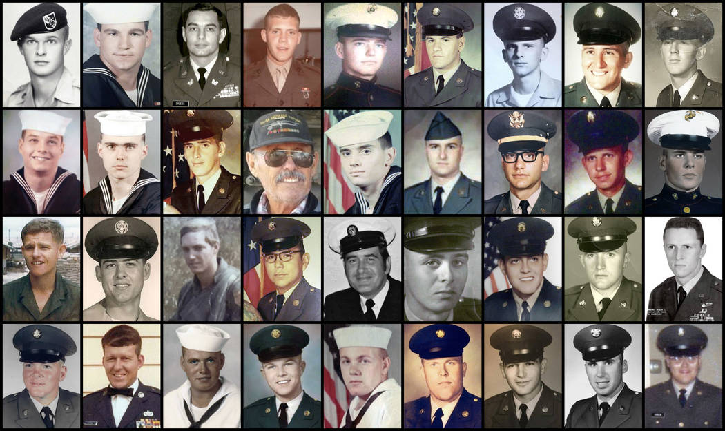 This combination of file photos provided by their families shows some of the hundreds of U.S. veterans of the Vietnam War who suffered from cholangiocarcinoma, a rare bile duct cancer believed to  ...