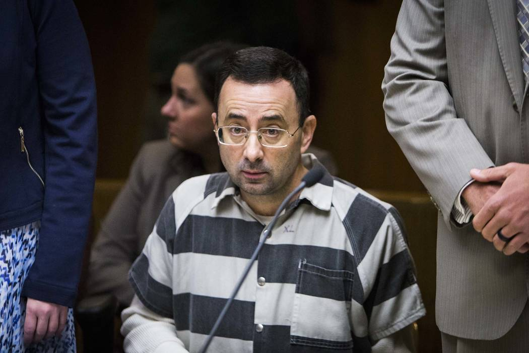 Dr. Larry Nassar listening during a preliminary hearing in Mason, Mich., May 12, 2017. The former Michigan State University and USA Gymnastics doctor pleaded guilty Wednesday, Nov. 22, 2017, to mu ...