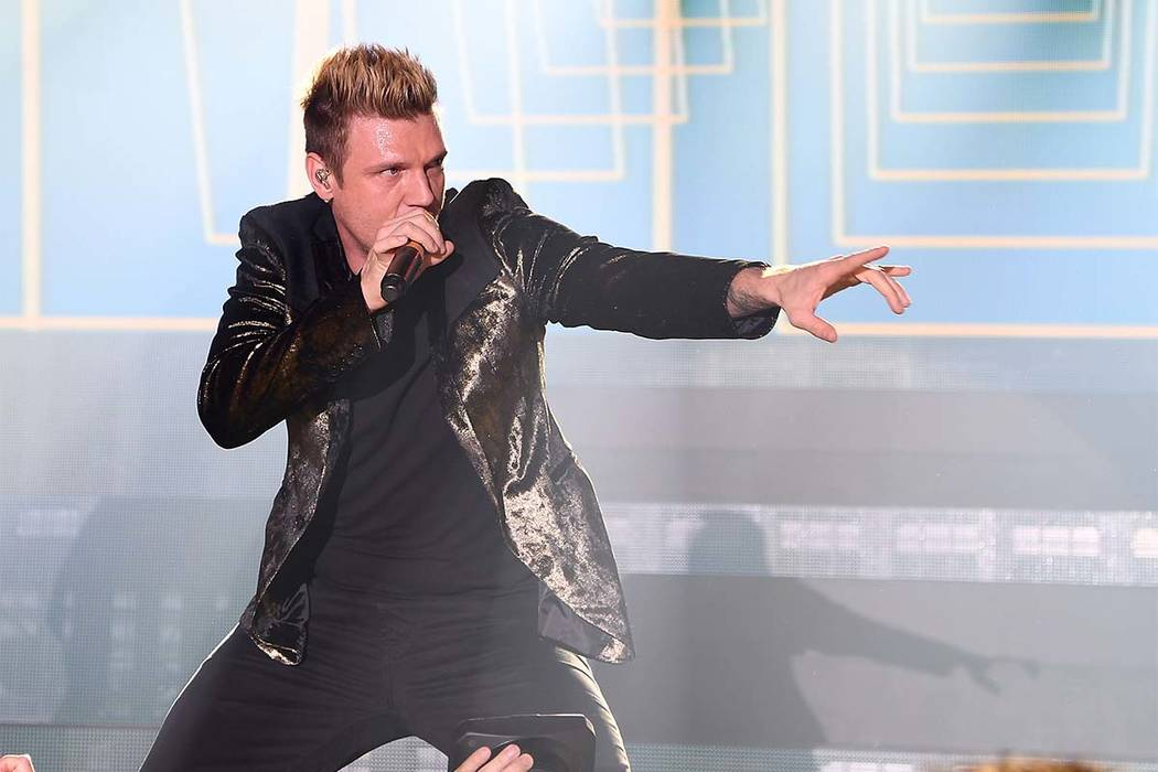 Nick Carter performs with the Backstreet Boys at a private show at Caesars Palace in Las Vegas on New Year's Eve Dec. 31, 2016.  (Photo by Denise Truscello/WireImage)
