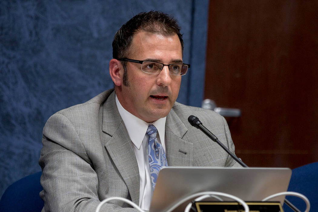 State Public Charter School Authority board chairman Jason Guinasso. (Elizabeth Brumley/Las Vegas Review-Journal)