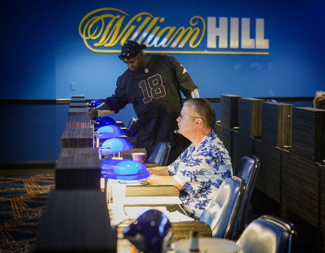 The William Hill Race & Sports Book in the Plaza Hotel-Casino on Friday, March 18, 2016. Jeff Scheid/Las Vegas Review-Journal Follow @jlscheid