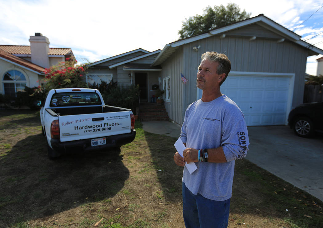 Robert Patterson, 53, talks about his wife, Lisa Patterson, a victim of the Route 91 Harvest festival shooting, at their home in Lomita, Calif., on Friday, Nov. 17, 2017. (Brett Le Blanc/Las Vegas ...