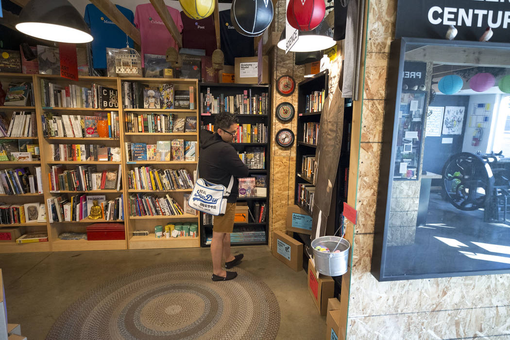 A customer browses the books at The Writer's Block on Small Business Saturday, Nov. 25, 2017, in downtown Las Vegas. Richard Brian Las Vegas Review-Journal @vegasphotograph