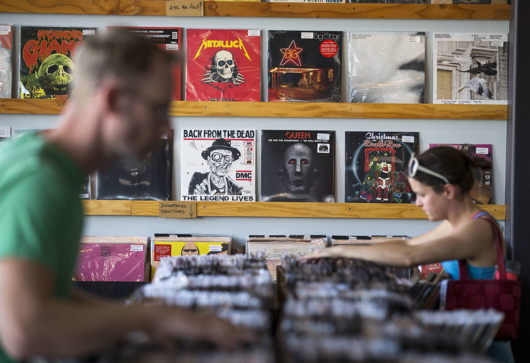 Customers browse the vinyl records at 11th Street Records on Small Business Saturday, Nov. 25, 2017, in downtown Las Vegas. Richard Brian Las Vegas Review-Journal @vegasphotograph