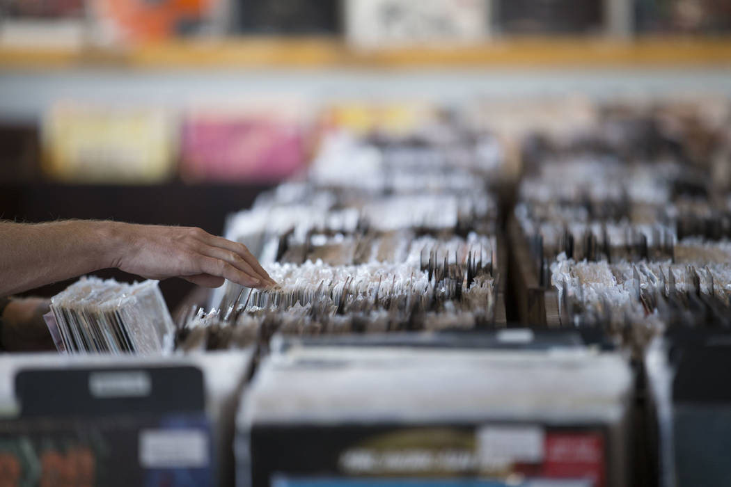 A customer browses the vinyl records at 11th Street Records on Small Business Saturday, Nov. 25, 2017, in downtown Las Vegas. Richard Brian Las Vegas Review-Journal @vegasphotograph