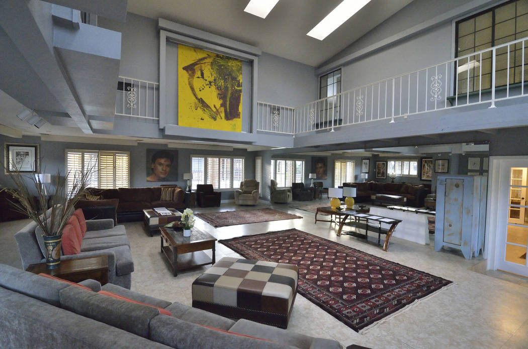 Entertainment room Part of the 23,000-square-foot home previously owned by Mexican singer-songwriter Juan Gabriel at 2801 Pinto Lane in Las Vegas on Sunday, Nov. 19, 2017. The house and its conten ...