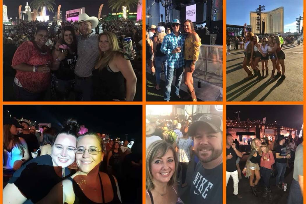 A screenshot from a video created by Stacie and David Armentrout shows survivors of the Route 91 Harvest festival shooting. (Stacie A/YouTube)