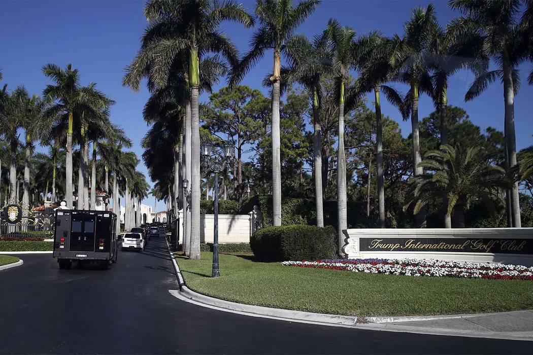 The motorcade of President Donald Trump arrives at at the Trump International Golf Club, Wednesday, Nov. 22, 2017, in West Palm Beach, Fla. (Alex Brandon/AP)
