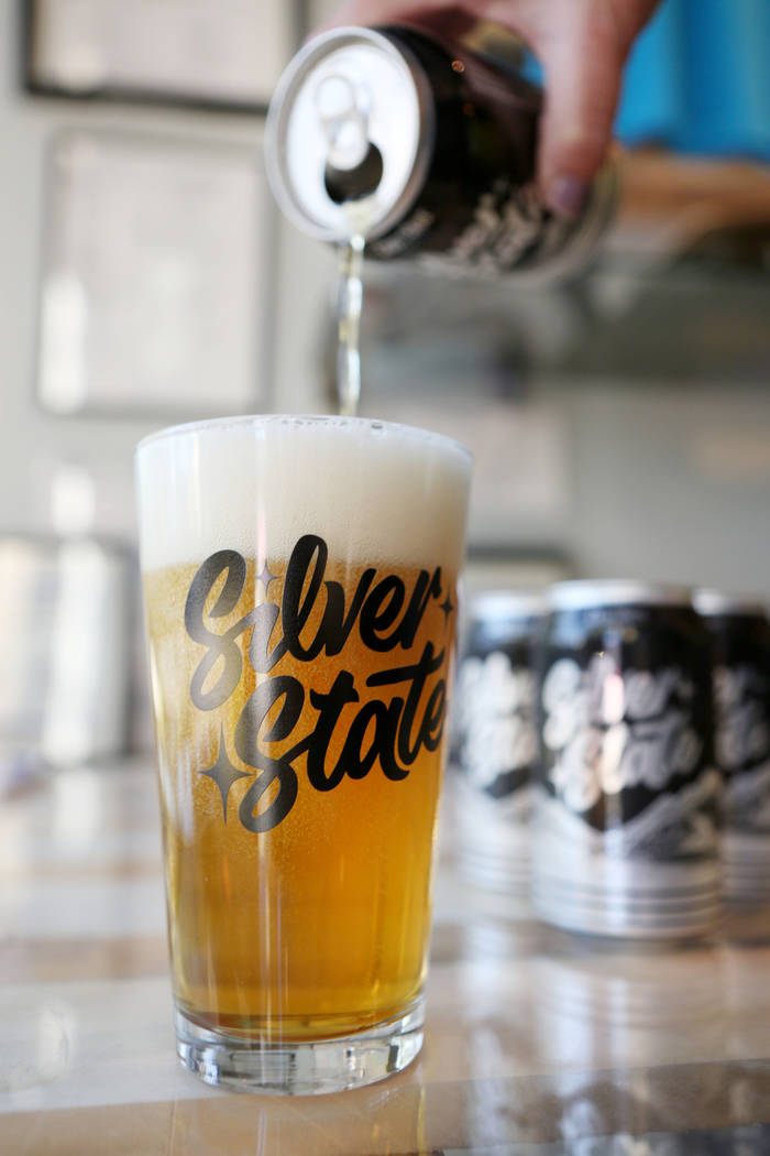 Silver State beer kicks off at CraftHaus Brewery's taproom Friday, Oct. 27, 2017. Silver State Blonde Ale is made to reflect Nevada's pioneering spirit and is light enough for hot summers.  ...