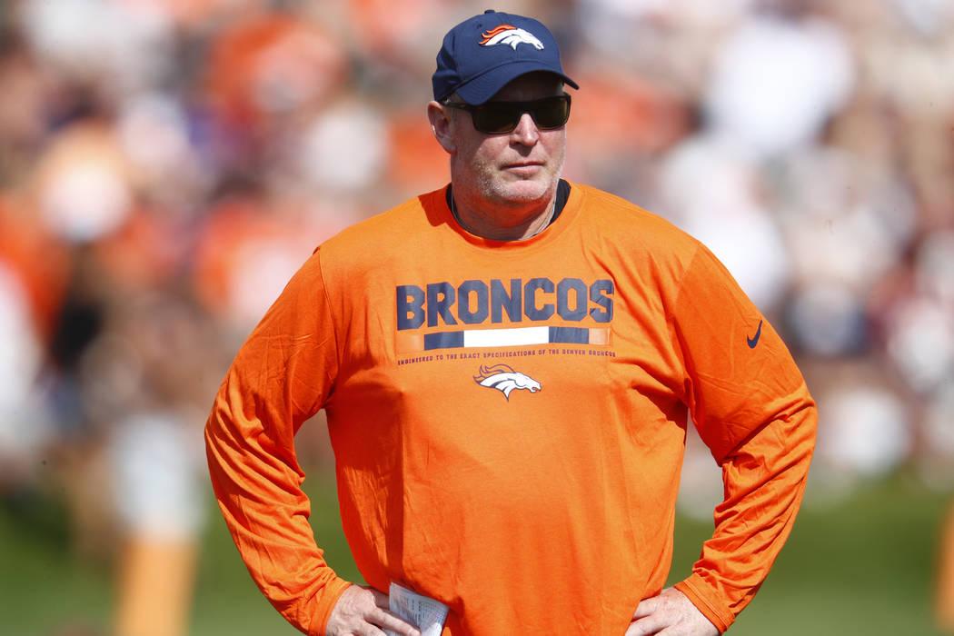 Raiders John Pagano Broncos Bill Musgrave Meet Again
