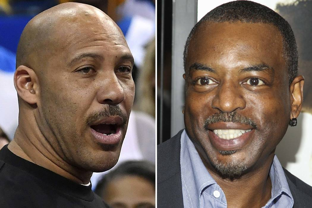 This combination photo shows LaVar Ball, father of UCLA basketball player LiAngelo Ball, left, one of three student players recently arrested in China for shoplifting, and actor LeVar Burton, who  ...