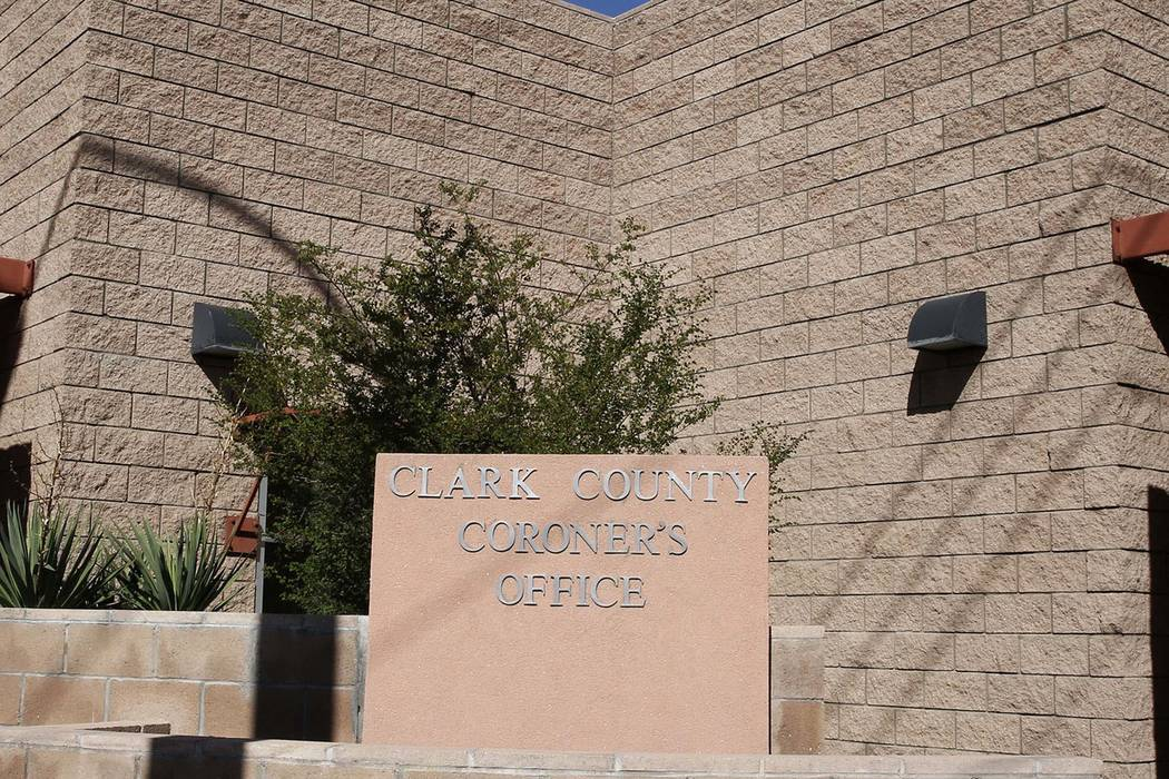 The Clark County Coroner. (Bizuayehu Tesfaye/Las Vegas Review-Journal) @bizutesfaye