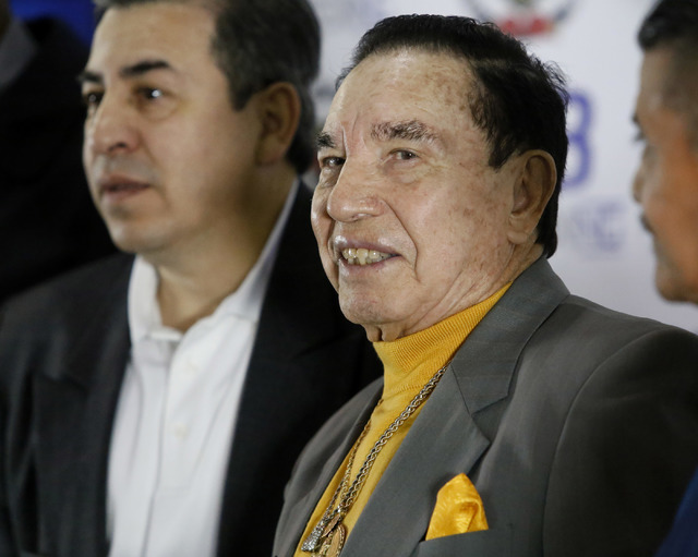 Rafael Garcia during a news conference where he was recognized during he 2017 Nevada Boxing Hall of Fame announcements on Wednesday, Feb. 15, 2017, in Las Vegas. (Christian K. Lee/Las Vegas Review ...