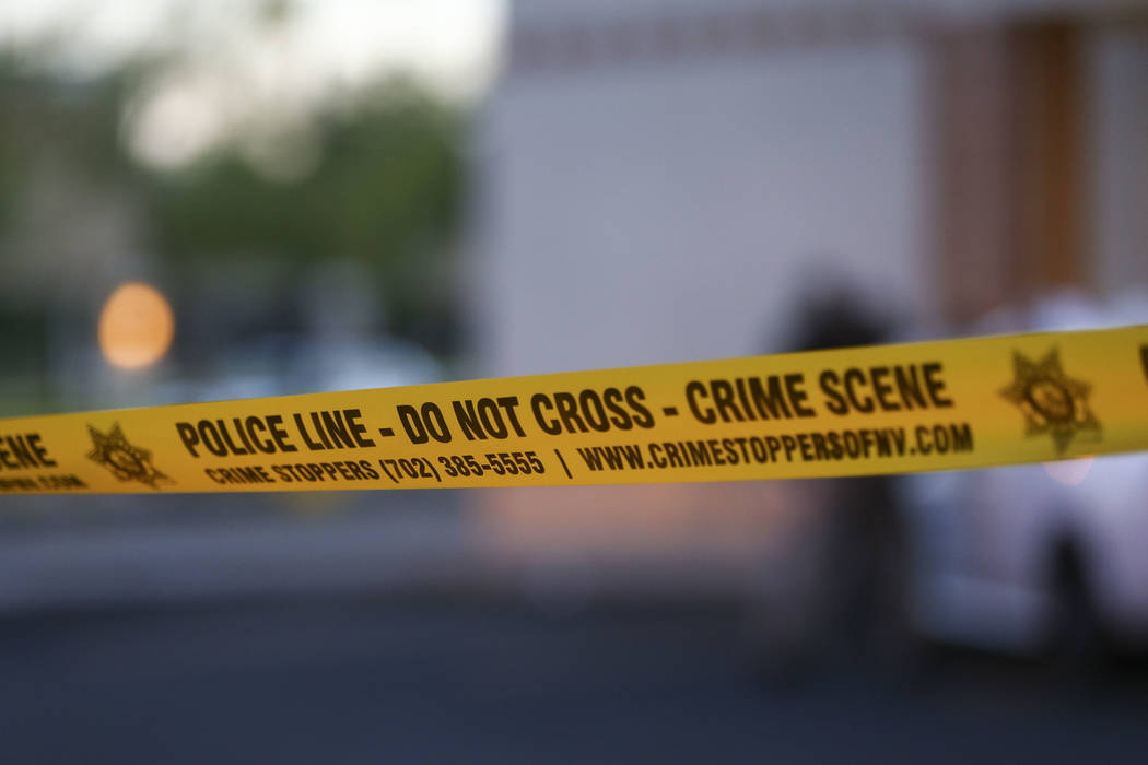 Las Vegas police are investigating a Saturday morning stabbing in the eastern valley that left one man hospitalized. Chase Stevens/Las Vegas Review-Journal Follow @csstevensphoto