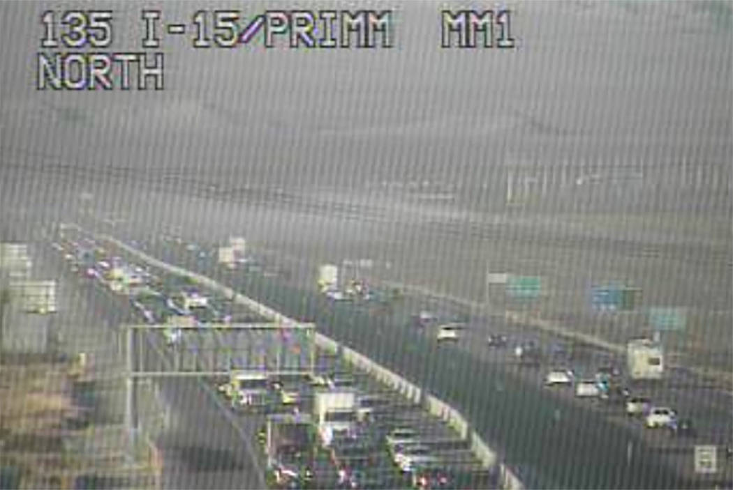 Traffic backs up in the southbound lanes of Interstate 15 (RTC Fast Cameras)