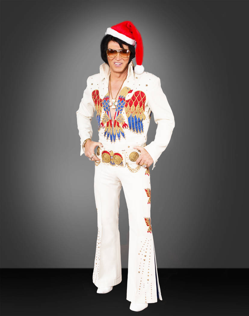 "Bill Cherry is shown as Elvis in ""Legends in Concert"" at Flamingo Las Vegas. (Denci Freeri)"