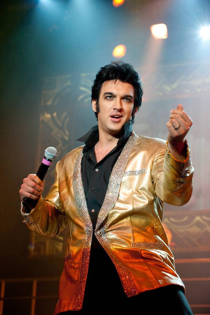 "Matt Lewis is shown as Elvis in ""Legends in Concert"" at Flamingo Las Vegas. (Denci Freeri)"