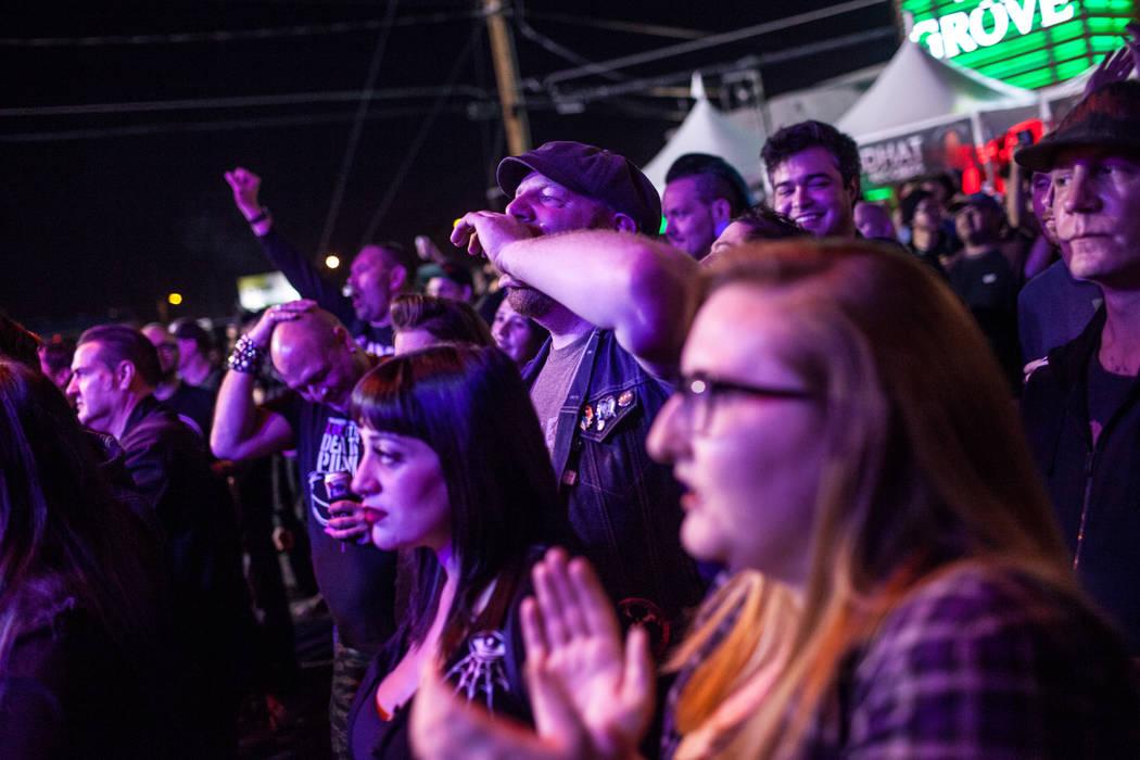 Kevin Brooks of Las Vegas, 32, cheers during the 25th anniversary show at the Double Down Saloon in Las Vegas, Saturday, Nov. 25, 2017. Joel Angel Juarez Las Vegas Review-Journal @jajuarezphoto