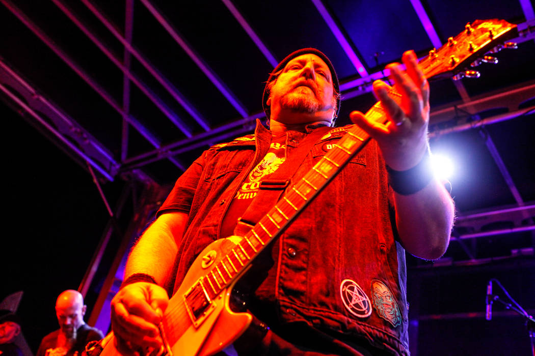 Marc Diamond of The Dwarves plays guitar during the 25th anniversary show at the Double Down Saloon in Las Vegas, Saturday, Nov. 25, 2017. Joel Angel Juarez Las Vegas Review-Journal @jajuarezphoto