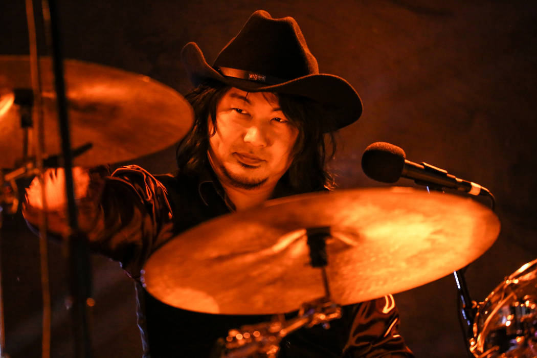 Takashi Kim of The Heiz, based out of Tokyo, Japan, plays the drums during 25th anniversary show at the Double Down Saloon in Las Vegas, Saturday, Nov. 25, 2017. Joel Angel Juarez Las Vegas Review ...