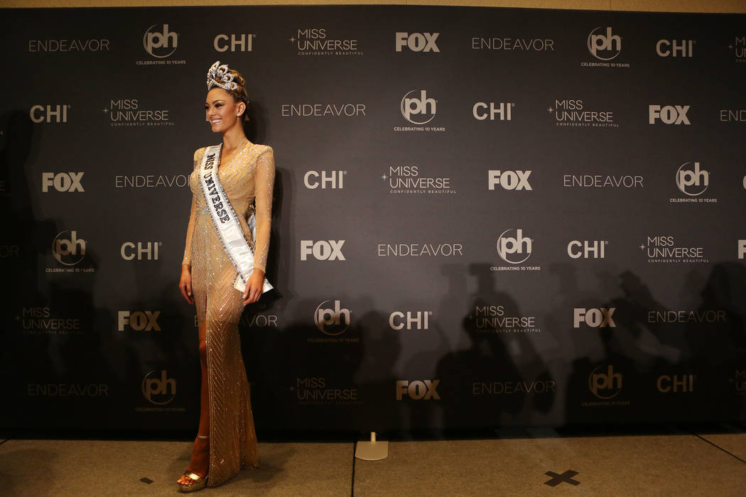 Winner of the 66th Miss Universe, Miss South Africa Demi-Leigh Nel-Peters at Planet Hollywood in Las Vegas, Sunday, Nov. 26, 2017. Bridget Bennett Las Vegas Review-Journal @BridgetKBennett