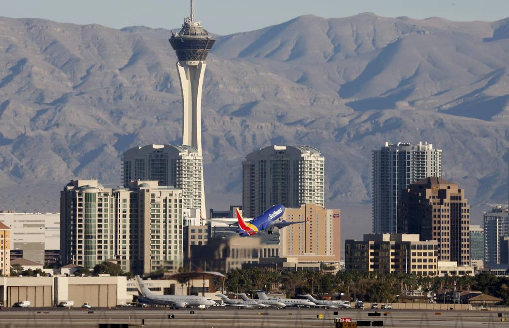 A Southwest Airlines plane takes off from McCarran International Airport on Tuesday, Nov. 28, 2017, in Las Vegas. Bizuayehu Tesfaye Las Vegas Review-Journal @bizutesfaye