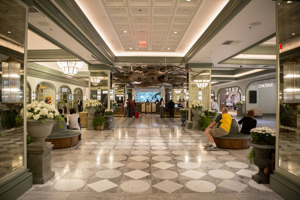 The newly renovated lobby at the Monte Carlo in Las Vegas, Wednesday, Nov. 29, 2017. Monte Carlo will be rebranding to Park MGM. Bridget Bennett Las Vegas Review-Journal