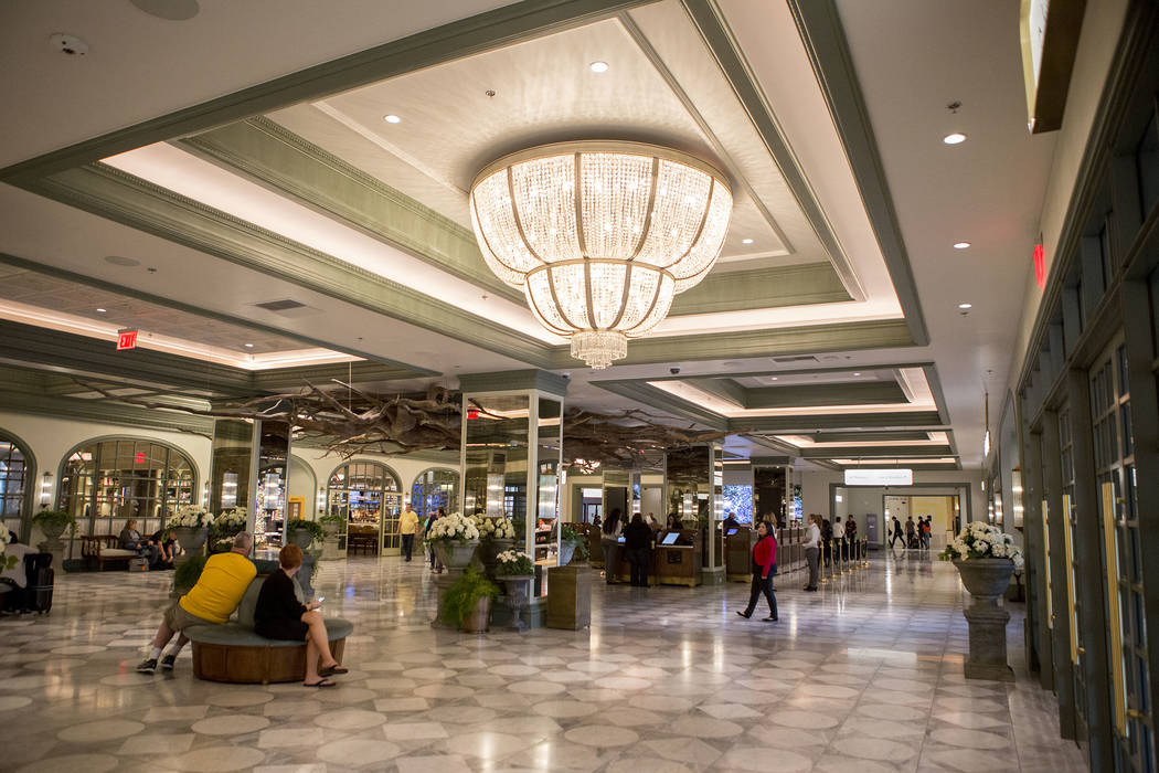 The newly renovate lobby at the Monte Carlo in Las Vegas, Wednesday, Nov. 29, 2017. Monte Carlo will be rebranding to Park MGM. Bridget Bennett Las Vegas Review-Journal