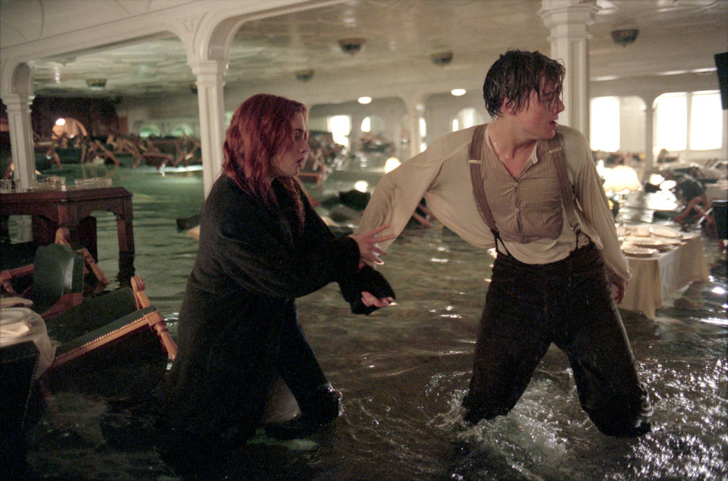 "Leonardo DiCaprio and Kate Winslet star in ""Titanic."" (Paramount)"