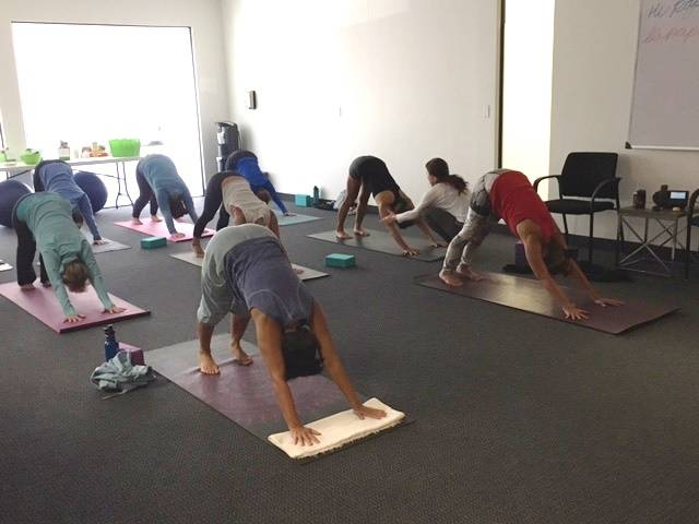 Las Vegas teens participate in a yoga class at Destinations for Teens, http://destinationsforteens.com/,  in Henderson fall of 2017. Psychologists note that there is no clinical diagnosis for the  ...