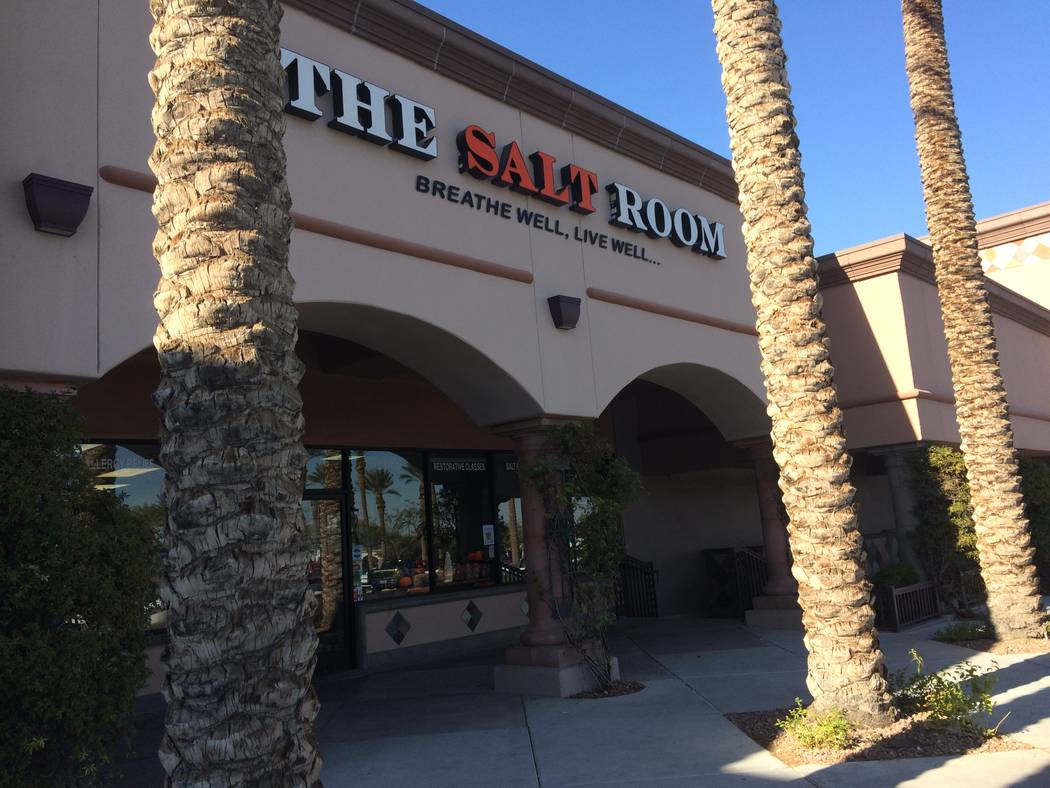 The exterior of  Salt Room LV, in Trails Village, is seen Nov. 1, 2017. The owner said she constantly updates what the business offers to keep it current. Her latest addition is her own line of sk ...