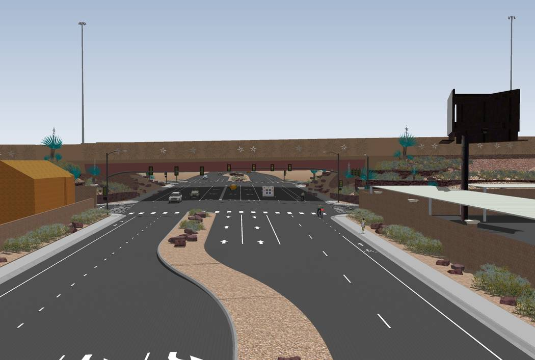 A planned $33.7 million interchange at Starr Avenue and Interstate 15. (Rendering by Nevada Department of Transportation)