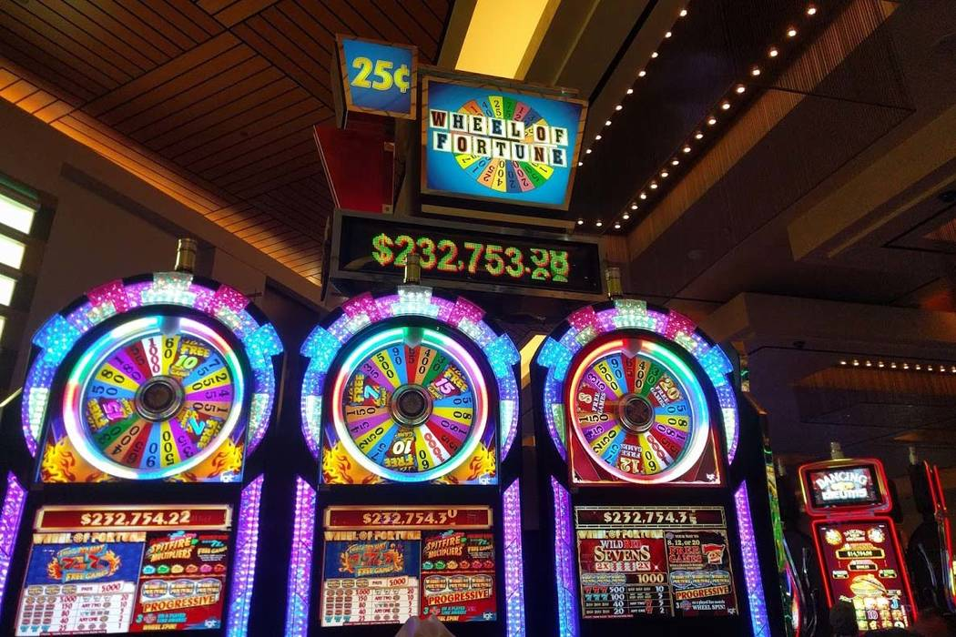 """IGT's 25-cent progressive """"Wheel of Fortune"""" game was reset to $200,000 after the jackpot was hit on Nov. 17. (Las Vegas Review-Journal)"""