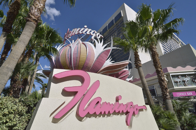 The exterior of Flamingo hotel-casino at 3555 Las Vegas Blvd., South, in Las Vegas is shown on Tuesday, Oct. 29, 2013. (Bill Hughes/Las Vegas Review-Journal)