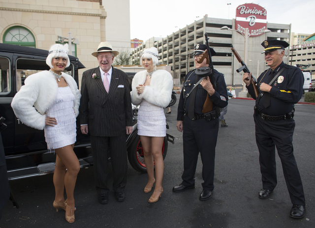 Former Las Vegas Mayor Oscar Goodman attends The Mob Museum's Repeal Day event Wednesday, Dec. 5, 2012 outside the museum at 300 E. Stewart Avenue. The event commemorated the anniversary of the en ...