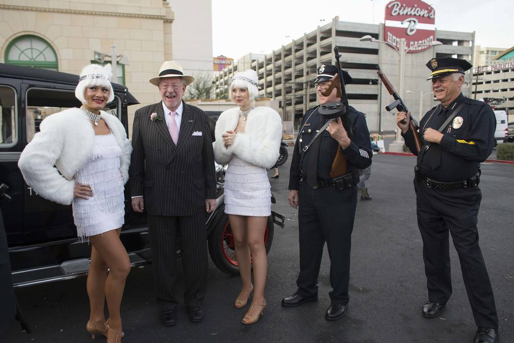 Former Las Vegas Mayor Oscar Goodman attends The Mob Museum's Repeal Day event Wednesday, Dec. 5, 2012, outside the museum at 300 E. Stewart Ave. The event commemorated the anniversary of the end  ...