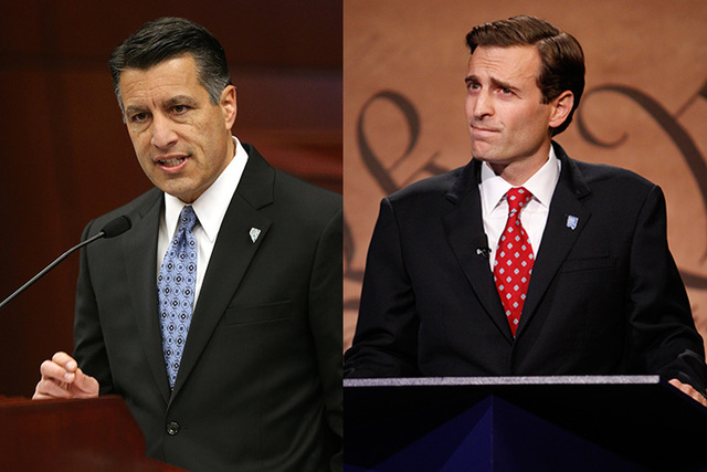 Gov. Brian Sandoval (left) and Attorney General Adam Laxalt (right). (Las Vegas Review-Journal file photos)