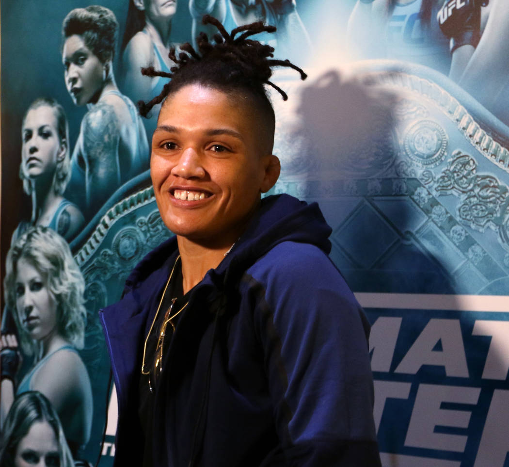 Ultimate Fighter 26 finalist Sijara Eubanks at the TUF 26 Finale media day at the Monte Carlo hotel-casino in Las Vegas, Wednesday, Nov. 29, 2017. Heidi Fang Las Vegas Review-Journal @HeidiFang