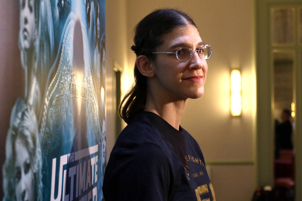UFC flyweight Roxanne Modafferi at a media day at the Monte Carlo hotel-casino in Las Vegas, Wednesday, Nov. 29, 2017. Heidi Fang Las Vegas Review-Journal @HeidiFang