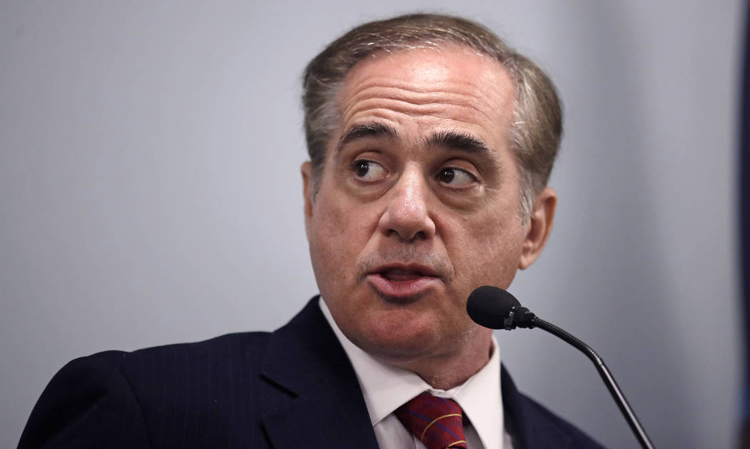 In this Aug. 4, 2017, file photo, Secretary of Veterans Affairs David Shulkin speaks during a visit to the Veterans Administration Medical Center in, Manchester, N.H. (AP Photo/Charles Krupa, File)