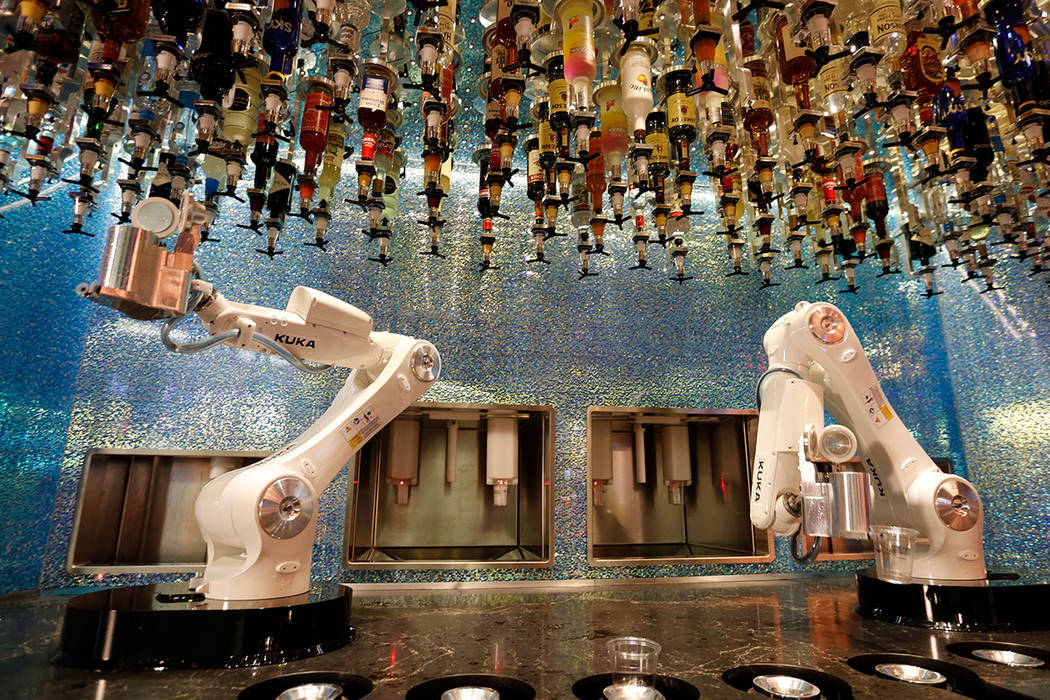Robot bartenders made their debut in Las Vegas in 2017. (Chitose Suzuki Las Vegas Review-Journal) @chitosephoto