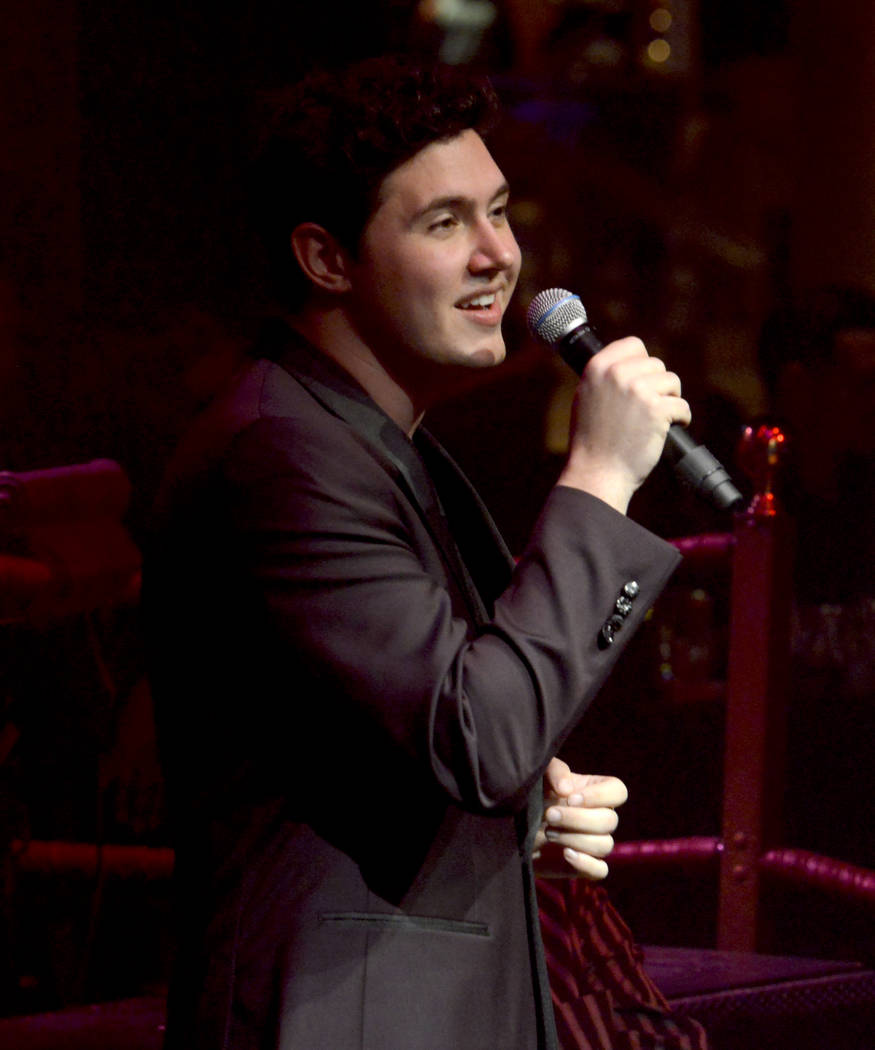 """Daniel Emmet takes center stage during opening night of the musical review """"The Cocktail Cabaret"""" at Cleopatra's Barge in Caesars Palace Hotel & Casino. Thursday, November 30, 2017. Glenn Pink ..."""