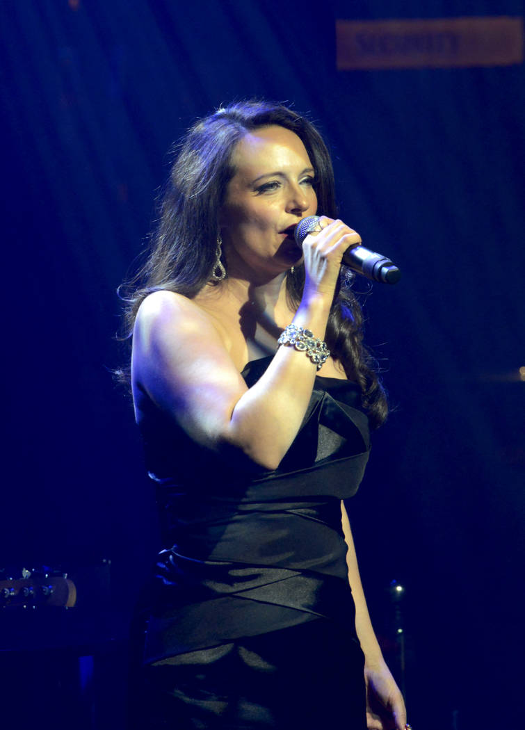 """Niki Scalera takes cnter stage during opening night of the musical review """"The Cocktail Cabaret"""" at Cleopatra's Barge in Caesars Palace Hotel & Casino. Thursday, November 30, 2017. Glenn Pinke ..."""