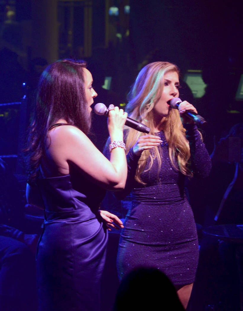 """Niki Scalera and Maren Wade take center stage during opening night of the musical review """"The Cocktail Cabaret"""" at Cleopatra's Barge in Caesars Palace Hotel & Casino. Thursday, November 30, 20 ..."""