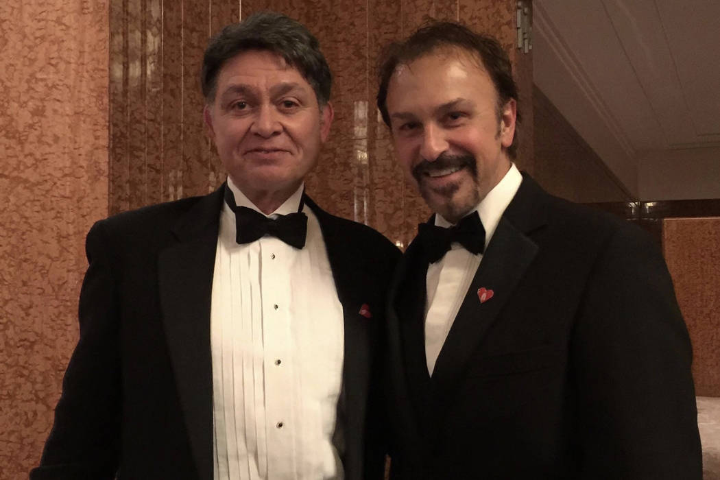 """Keith Thompson, left, and Philip Fortenberry are bringing """"The Cocktail Cabaret"""" to Cleopatra's Barge at Caesars Palace on Nov. 30. (Shelley Mansholt)"""