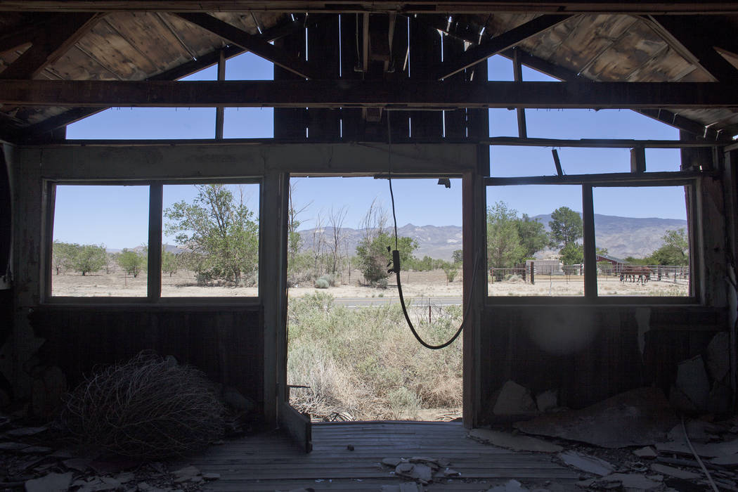 An Abandoned house near the road on Tuesday, June 6, 2017, in Dyer in Esmeralda county. The county is one of the least populous in the nation. Rachel Aston Las Vegas Review-Journal @rookie__rae