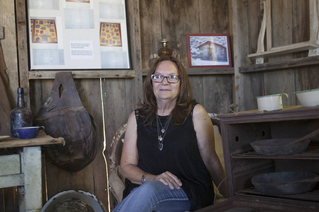 Linda Williams, who owns the local market, on Tuesday, June 6, 2017, at her Fish Lake Valley Heritage Center Museum in Dyer in Esmeralda county. The county is one of the least populous in the nati ...