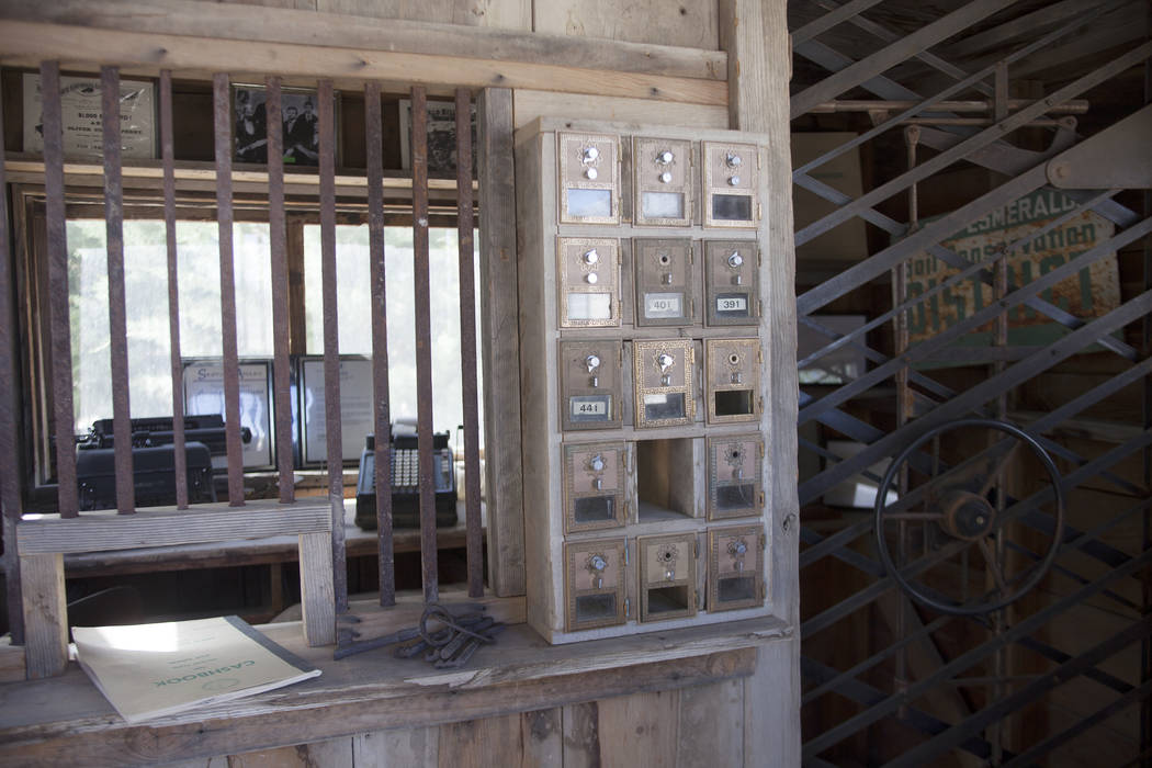 An old post office at the Fish Lake Valley Heritage Center on Tuesday, June 6, 2017, in Dyer in Esmeralda county. The county is one of the least populous in the nation. Rachel Aston Las Vegas Revi ...