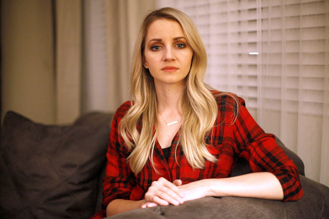 Chantal McCrorie at her home in Las Vegas, Wednesday, Nov. 15, 2017. McCrorie survived the Route 91 shooting. She recalls a bullet shooting through her hair, as people under 10 feet from her were  ...