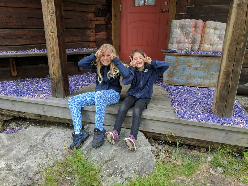 Shane Peterson's two girls, Clara, left, and Frida, during a recent trip to Sweden. Courtesy of Shane Peterson